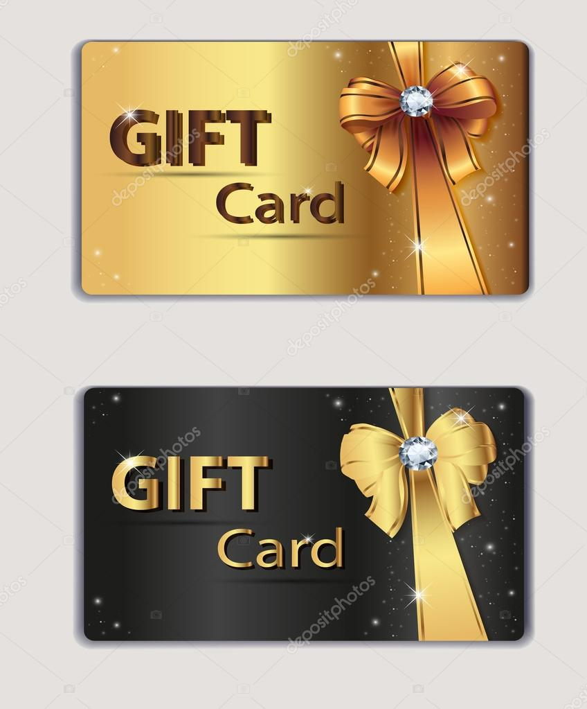 Gift coupon gift card discount card business card gold for Gift card for business
