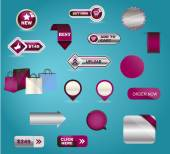 Business buttons mega-pack. You can use it for your online shop, business website, blog, artwork. You can edit any button as you like. — Stock Photo
