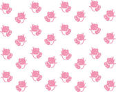 Baby background cats pink seamless — Stock Vector