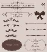 Set of Calligraphic Design Elements and Page Decoration Dividers — Stok fotoğraf