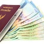 Passport with Thai bank — Stock Photo #63256257