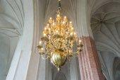 Lights inside a church  — Stock Photo
