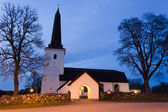 Vasteras Cathedral in winter evening — 图库照片