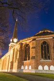Catedral de Vasteras en noche de invierno — Foto de Stock