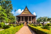Haw Pha Kaeo or (wat Pha Kaeo) in Vientiane Laos , They are publ — Stock Photo