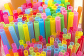 Colorful straws for beverage soft drink — Stock Photo