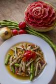 Papaya salad, pork — Stockfoto