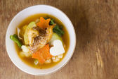 Hot and sour with fish, delicious thai traditional food. — Stock Photo