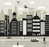 City life — Stock Vector