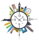 Travel clock. — Stock Vector