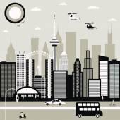 Modern City street — Stock Vector