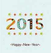 Happy New Year 2015 background. — Stock Vector