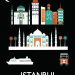 Sinais de cidade de Istambul — Vetor de Stock  #59257229