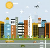 City life illustration — Stock Vector