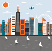 Modern city life — Stock Vector