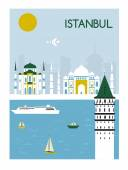 Istanbul city life — Stock Vector