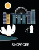 Singapore city life — Stock Vector