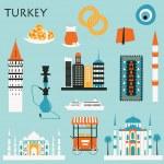Travel Symbols of Turkey — Stock Vector #73129053