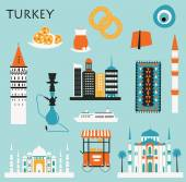 Travel Symbols of Turkey — ストックベクタ