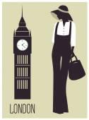 Fashion woman Silhouette — Stock Vector