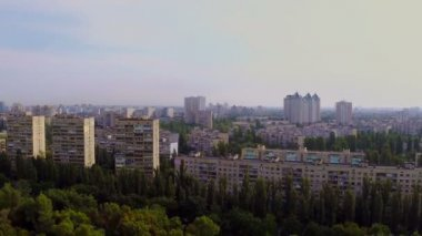 Panorama of large city — Stock Video