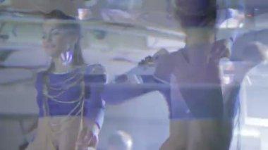 Women dancing GoGo in nightclub — Stock Video