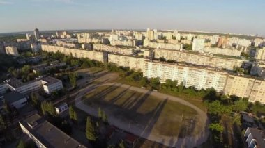 Panorama of large residential area — Vídeo Stock