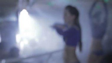 Sexy showgirls dancing — Stock Video