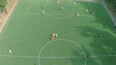 Team playing professional football match — Stock Video