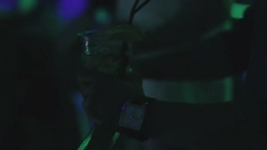 Young man  at nightclub — Stock Video