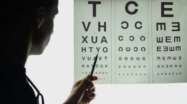 Optometrist eye checkup — Stock Video