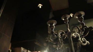 Copa de champán en mesa — Vídeo de stock