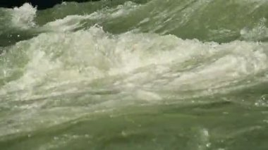 Green water whirlpool — Stock Video