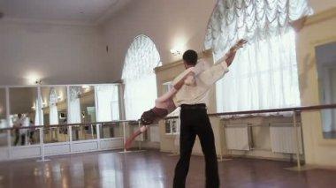 Classical ballet dancing — Stok video