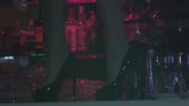 Woman legs in high heels — Stock Video