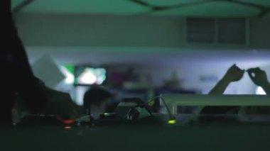 DJ     at nightclub — Stock Video