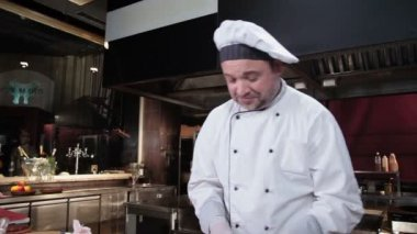 Chef smiling — Stock Video