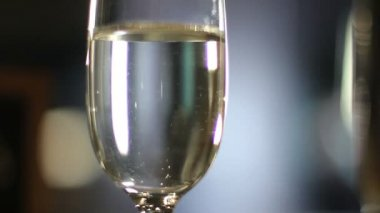 Glass  with  champagne — Stock Video