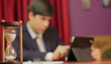 Businessman making career — Stock Video
