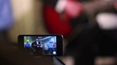 Live guitar concert — Stock Video