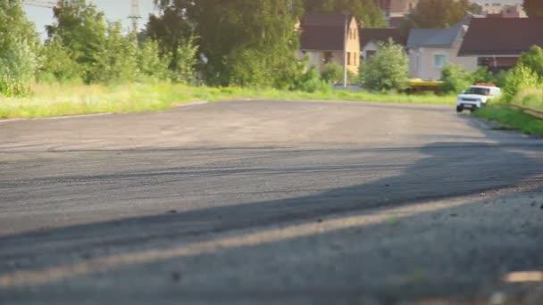 Safety car driving desert circuit — Vidéo