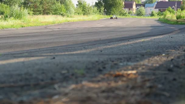 Racing car driving high speed — Vidéo