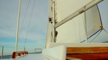 Close-up of white sail — Stock video