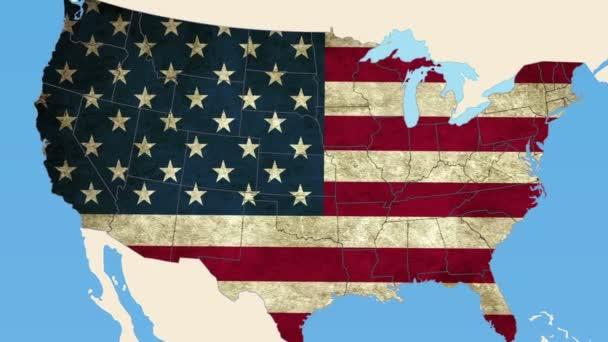 Alaska mapa Estados Unidos — Vídeo de stock
