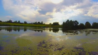 Beautiful river landscape — Stock Video
