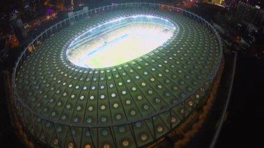 Great illuminated stadium — Stock Video