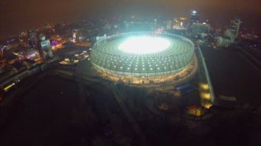 Vista delle luci dello stadio di notte — Video Stock