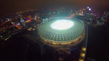 Stadio illuminato alla notte — Video Stock