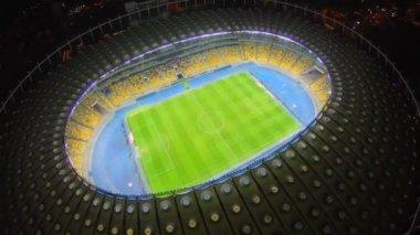 Beautiful stadium at night — Stock Video