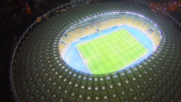 Majestuoso estadio en la noche — Vídeo de stock